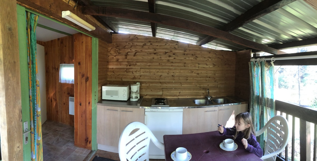 the outside kitchen